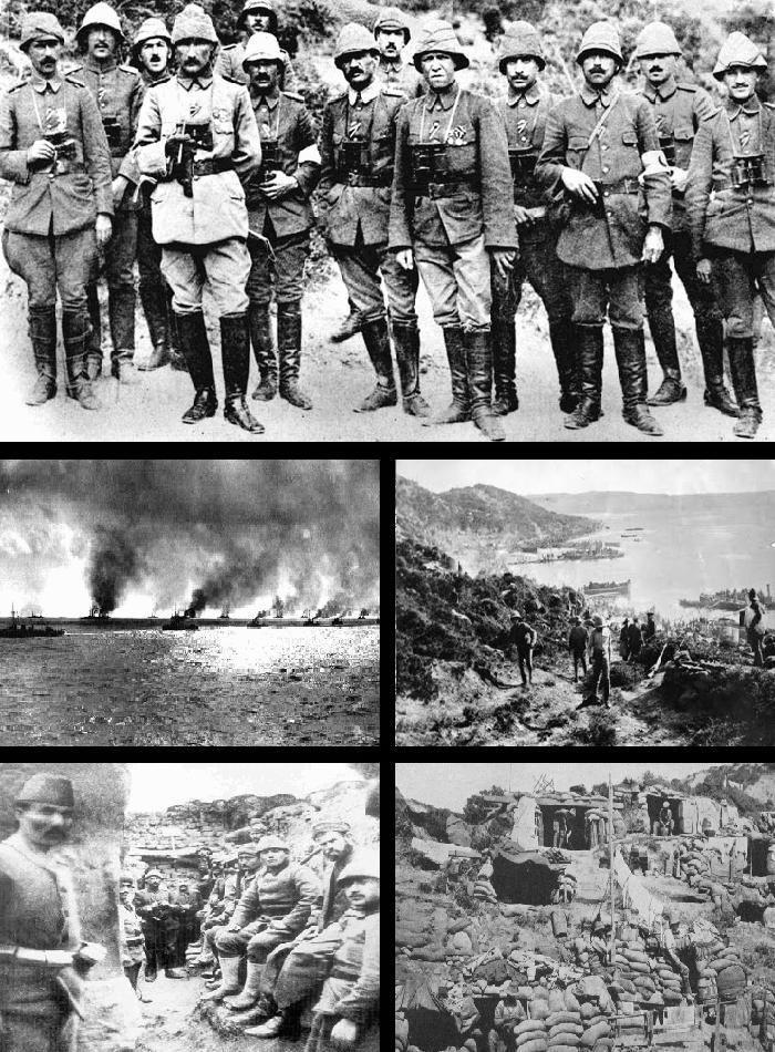 CANAKKALE, Hier is de slag om Canakkale gehouden, het waren de Osmaansen, de Duitsers en de Oostenrijk-Hongaarse tegen de Engelsen en Fransen. De slag is gewonnen door de Centralen. De Geallieerden hebben 252000 verliezen geleden en de Centralen 250000.