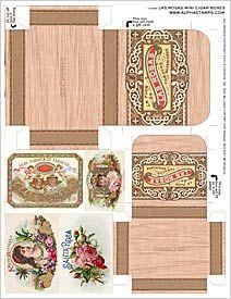 Las Rosas Mini Cigar Boxes Collage Sheet
