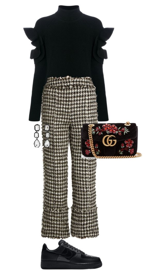 """Untitled #698"" by szudi on Polyvore featuring Versace, Erdem, AMBUSH, NIKE and Gucci"