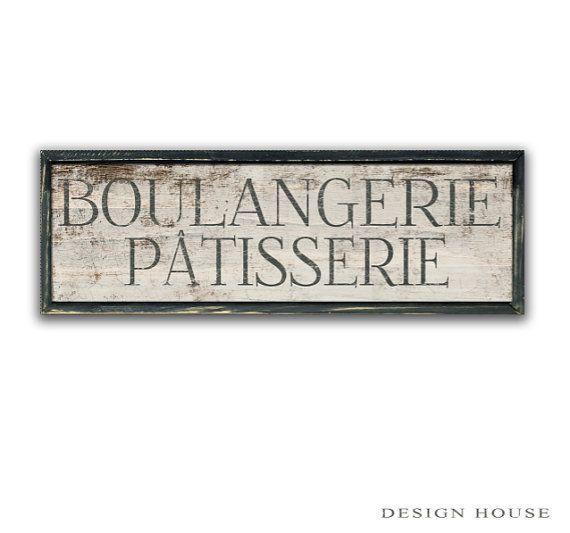 Boulangerie Patisserie wooden sign framed in wood kitchen sign kitchen decor bakery signs cafe signs french bakery signs kitchen wall art