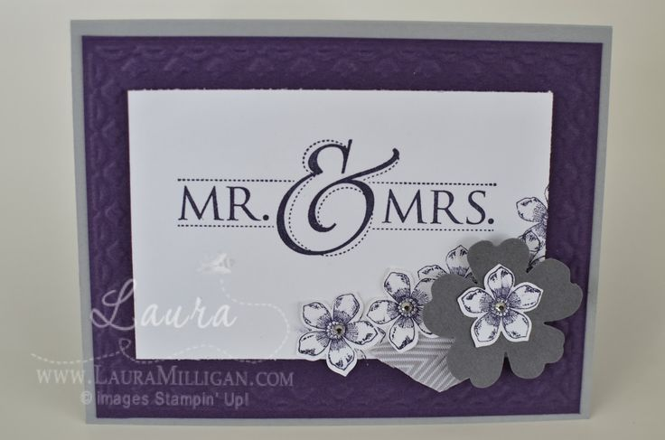 """Laura Milligan, Stampin' Up! Demonstrator - I'd Rather """"Bee"""" Stampin!: Mr and Mrs"""
