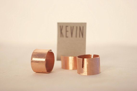 60 pieces, ,copper pipe rustic place card holders, Wedding placecard, name holdes.
