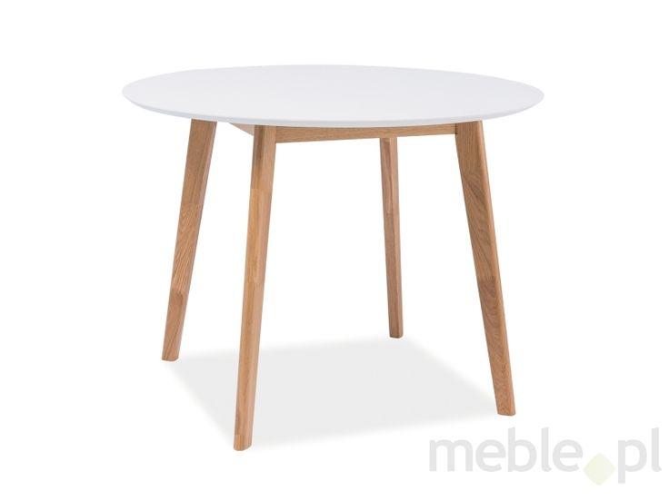 Stół MOSSO II biały/dąb
