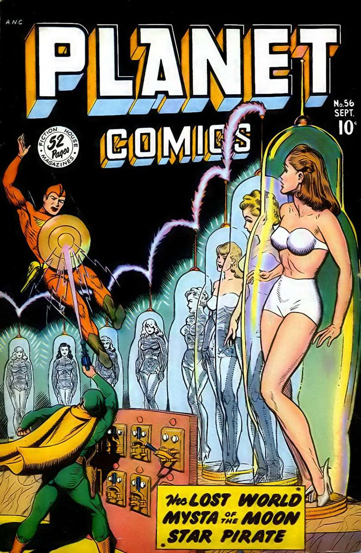 Girls in tubes in Planet Comics #56