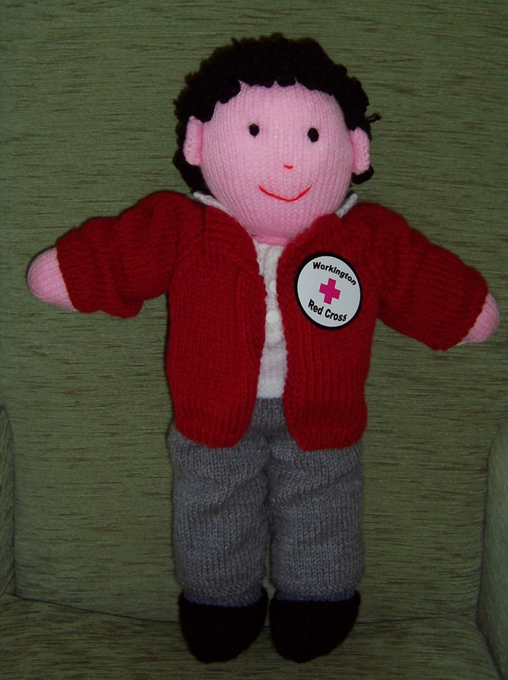 Knitting Patterns For Welsh Dolls : This is the Workington mascot I knitted. He is based on the Sharon Welsh patt...