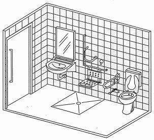 Diseño y medidas, baños para discapacitados                                                                                                                                                                                 Más