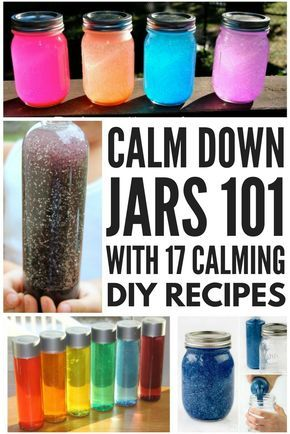A calm down jar offers a fabulous way for kids (and for adults!) with special needs like autism, sensory processing disorder, OCD, and anxiety to learn the art of self-regulation. We're teaching you what calm down jars are, and how and why they work, and we're also sharing 17 DIY calm down jar recipes you can make at home for cheap. We've even included some glitter-free calm down jars to inspire you to be creative!