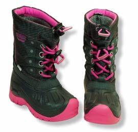 Kodiak Thermo Winterstiefel Mädchen Snowboots wasserdicht pink - schwarz - Bild vergrößern