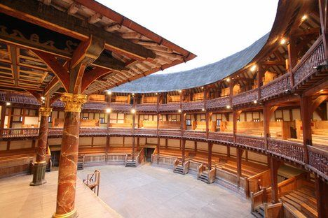the Globe theatre. Last summer I worked with the Royal Shakespeare Company in NYC where they built an 1,000 seat replica of the globe, I would love to see the real thing!