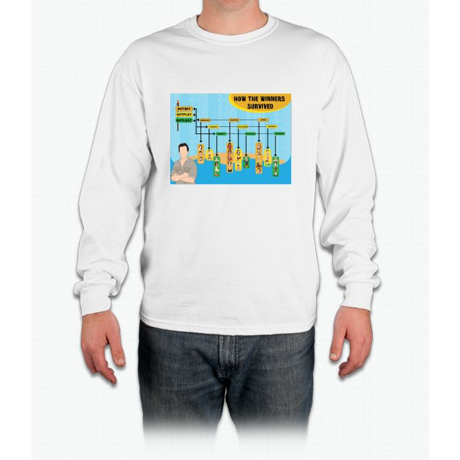Survivor Winners Infographic Long Sleeve T-Shirt