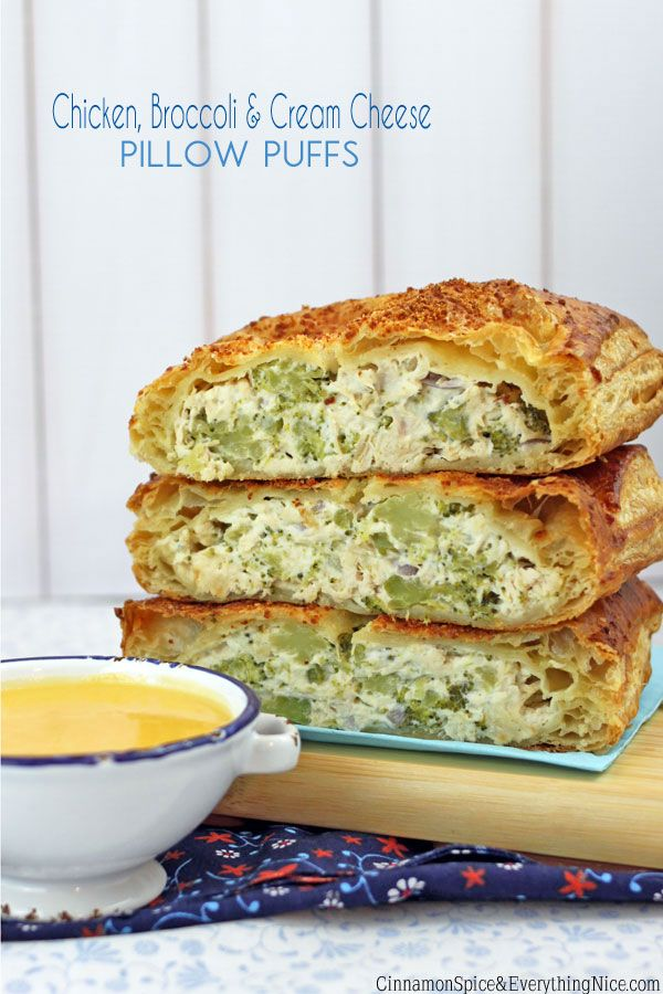 Chicken, Broccoli Cream Cheese Pillow Puffs