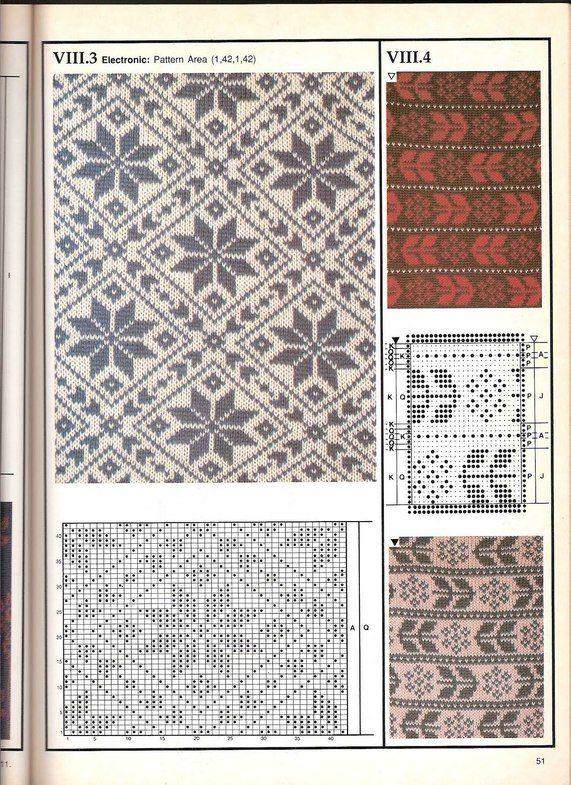 Machine knitting - Jacquard Machine knitting - jacquard # 50