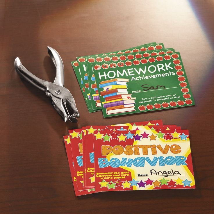 """""""Punch cards are great ways to motivate students to reach goals. Students will…"""