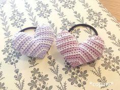 ハートのヘアゴムの作り方|編み物|編み物・手芸・ソーイング|ハンドメイドカテゴリ|アトリエ