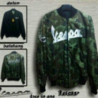 Two in one vespa jacket luar parasit dalam pleece all size fit L 180rb call 523D5F13