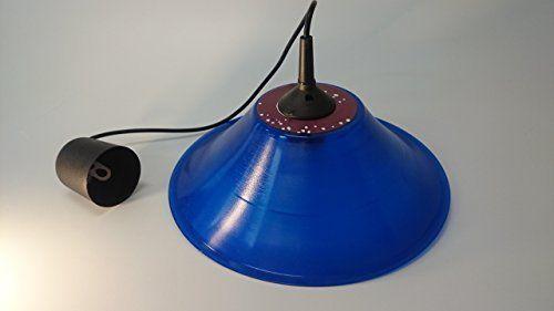 Deckenlampe Lampenschirm blau hergestellt aus original Vinyl Schallplatte