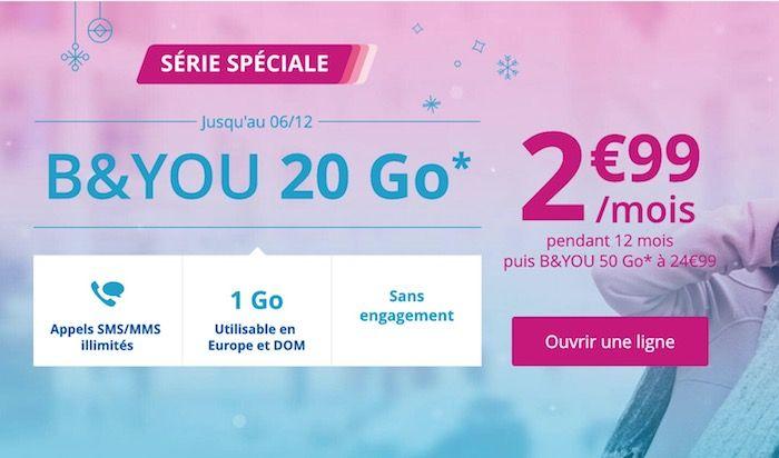 [Prolongation  #Promo]  Bouygues répond à Free Mobile avec un forfait 20 Go à 299/mois pendant un an