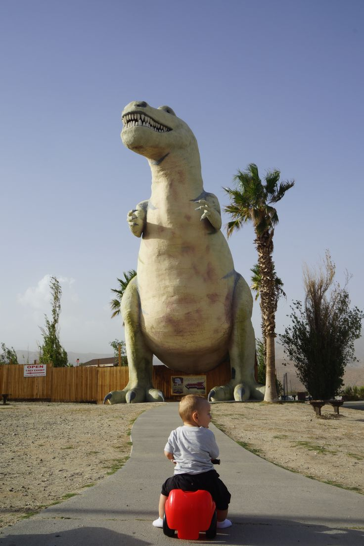 Travel Tip: Take a cute little toy car to iconic roadside attractions for awesome pictures of your kid. :)