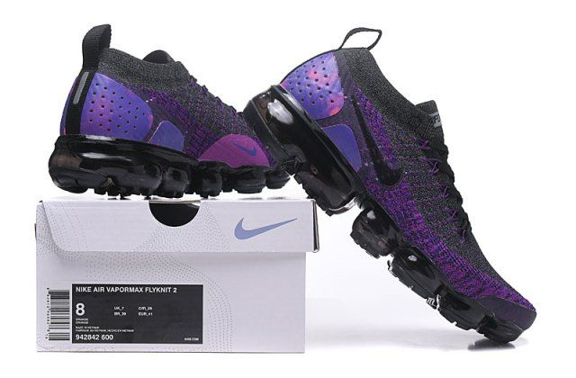 nike air vapormax flyknit 2 black and purple