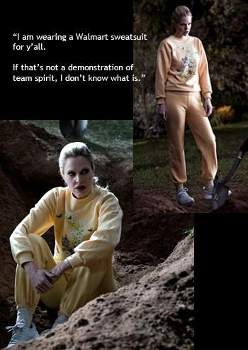 Halloween Costume 2013. True Blood's Pam De Beaufort and her Wal-Mart sweatsuit!