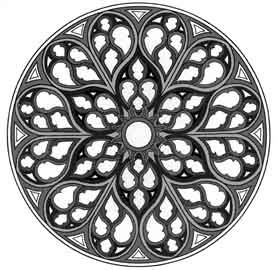 8 best rosaces images on pinterest ceiling rose mandalas and arabesque - Rosaces a colorier ...