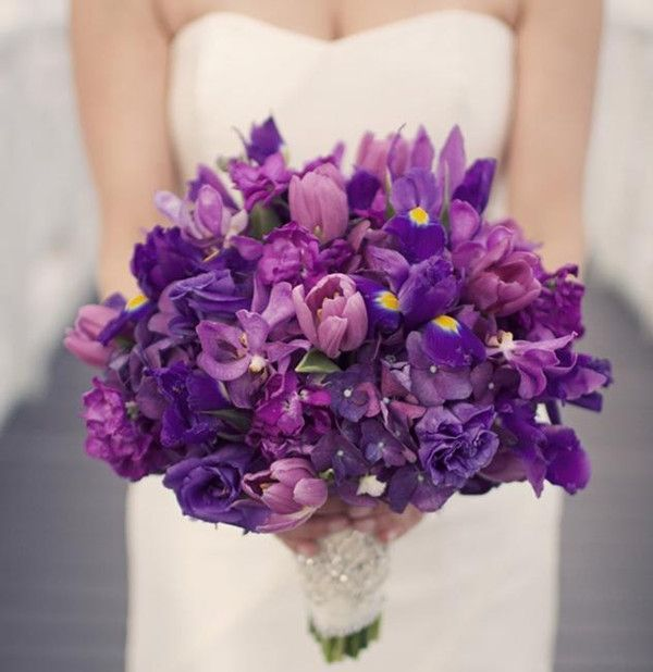 purple reception wedding flowers,  wedding decor, wedding flower centerpiece, wedding flower arrangement, add pic source on comment and we will update it. www.myfloweraffair.com can create this beautiful wedding flower look.