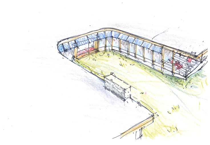 A sketch of the proposed cutout area at the Lang's Cove house.