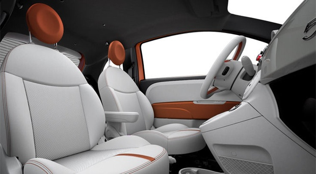 The FIAT #500e stays true to its #Italian heritage with a stylish #interior!