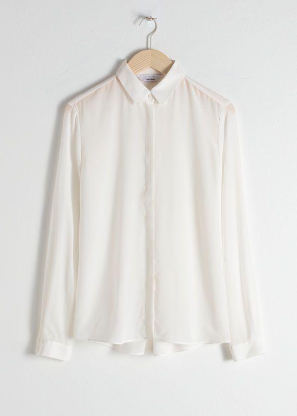 4f47ec4576493 Straight Fit Silk Shirt