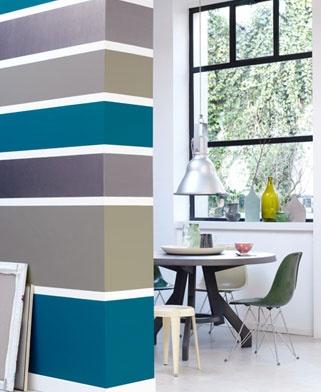 Meer dan 1000 idee n over verf strepen op pinterest gestreepte muren schilderij horizontale - Kleur trap schilderij ...