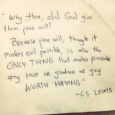 True for God as well as human love. It allows them to leave, but it also allows them to love us fully.