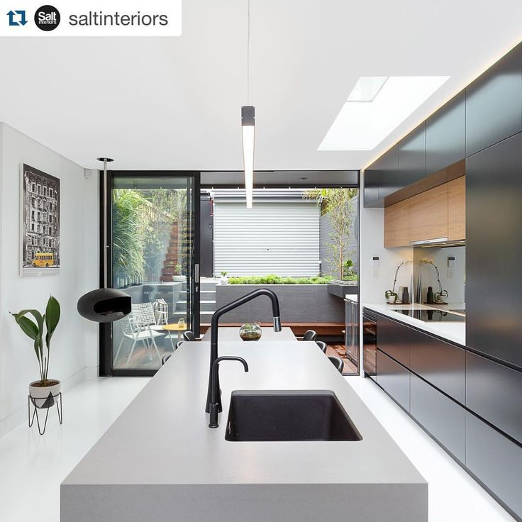 "232 Likes, 23 Comments - Caesarstone Australia (@caesarstoneau) on Instagram: ""Modern industrial bliss with #Caesarstone Sleek Concrete. #Repost @saltinteriors. ・・・ Balmain…"""