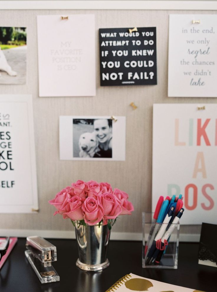 office space essentials #office #decor #theeverygirl