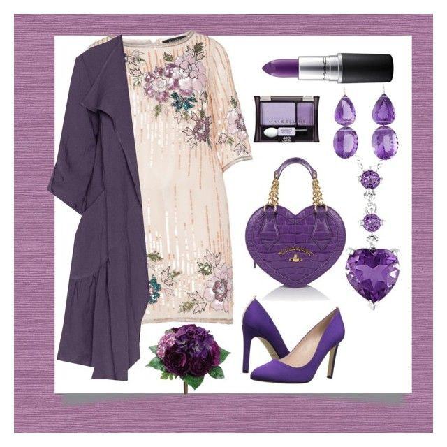 """""""grape"""" by mamatee1917 on Polyvore featuring navabi, SJP, Vivienne Westwood, Miadora, MAC Cosmetics, Maybelline and Oliver Jung"""
