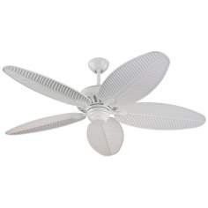 "52"" Monte Carlo Cruise White Wet Ceiling Fan"