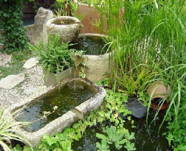 fontain-de-jardin-en-pierre simple et originale