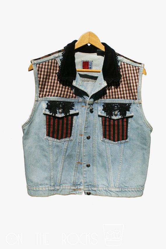 Soleil des années 1980 ceinture Denim Vintage / Blue Jean
