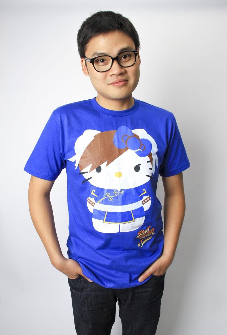 Something for the gentlemen: Hello Kitty x Chun-Li T-shirt!