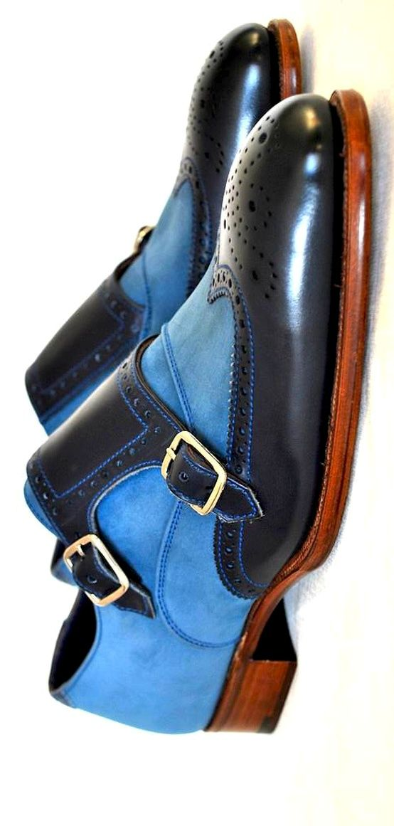Blue & Navy Dress Shoes for Men |  Click on image to visit www.pooz.com