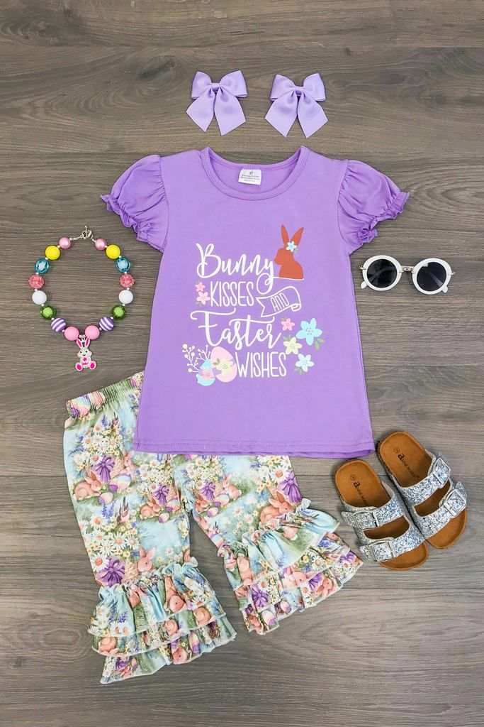 Bunny Kisses And Easter Wishes Boutique Set Easter Wishes Wish Boutique Boutique Set