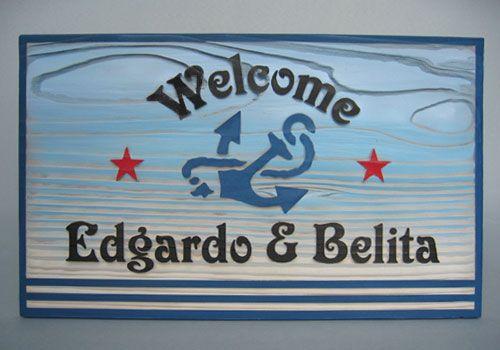 ~~~欧米の古く美しい港町をデザインしたウェルカムボード~~~船や海を連想させるシンボル「錨(いかり)」のマークを中心に添え、左右に星、ボードの下の二本線を組... ハンドメイド、手作り、手仕事品の通販・販売・購入ならCreema。