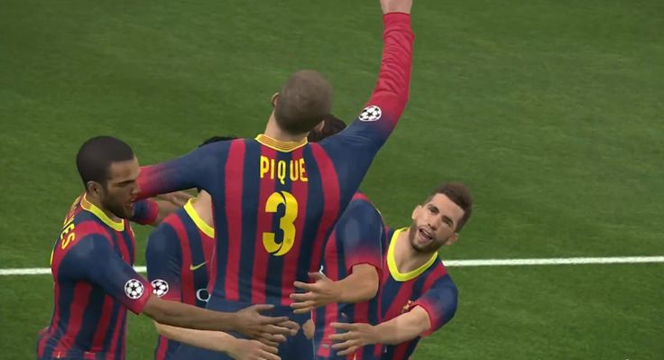 FC Barcelona wins! Screenshot by: Joseph Husani  #proevolutionsoccer2014 #screenshot #sport
