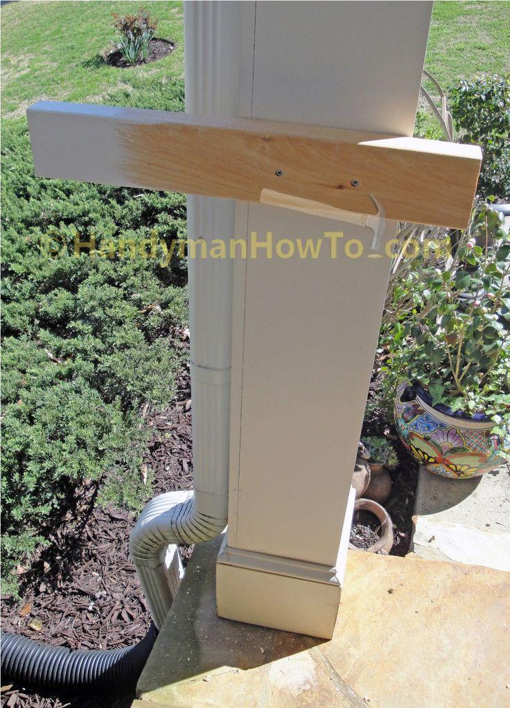 Build A 2x6 Porch Rail Temporary Support Block Ideas