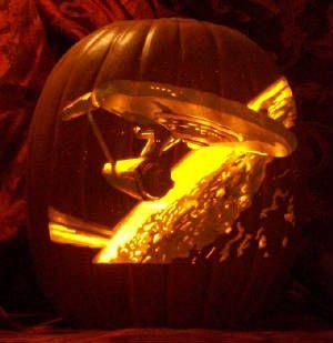 Star Trek jack o' lantern