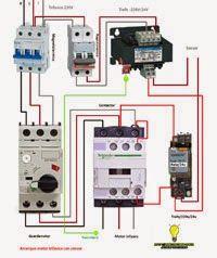 Esquemas eléctricos: Arranque motor trifasico con sensor y rele 24v