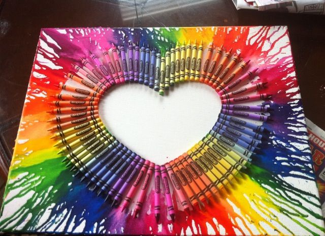 Awesome idea! Glue crayons on a canvas and use a hairdryer to melt! || #LittlePassports #Arts and #Crafts for #kids