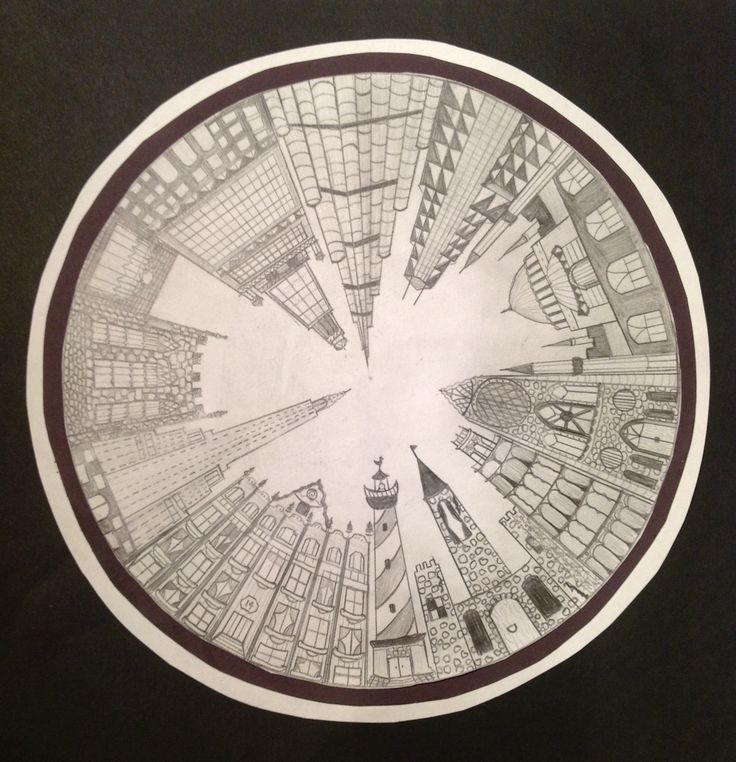The smARTteacher Resource: 1-Point Perspective City Could mAke an earth to open over the top!