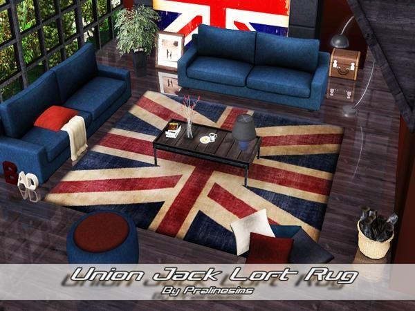 Union Jack Loft Modern And Stylish Rug By Pralinesims