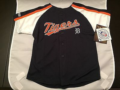 MLB Detroit Tigers Youth Size 4 Stitches Button Down Jersey www.mancavesonline.com
