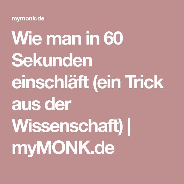Wie man in 60 Sekunden einschläft (ein Trick aus der Wissenschaft) | myMONK.de – Ralf Beyer